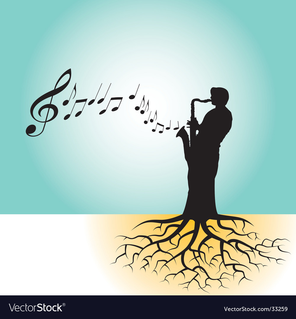 Sax roots vector | Price: 1 Credit (USD $1)