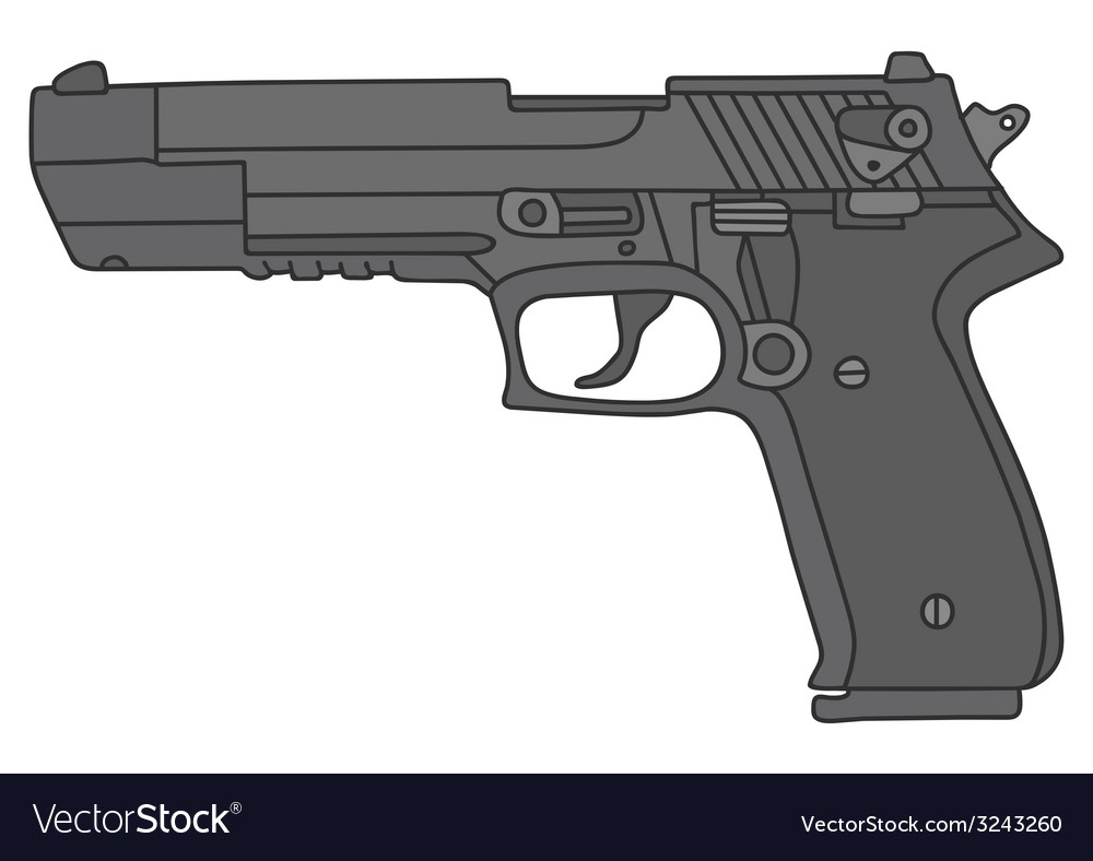 Big handgun vector | Price: 1 Credit (USD $1)