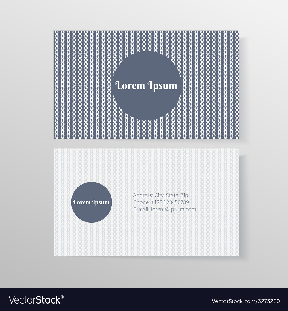 Business card template with ropes and knots vector | Price: 1 Credit (USD $1)