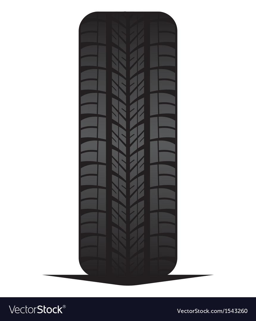 Car tyre - tire vector