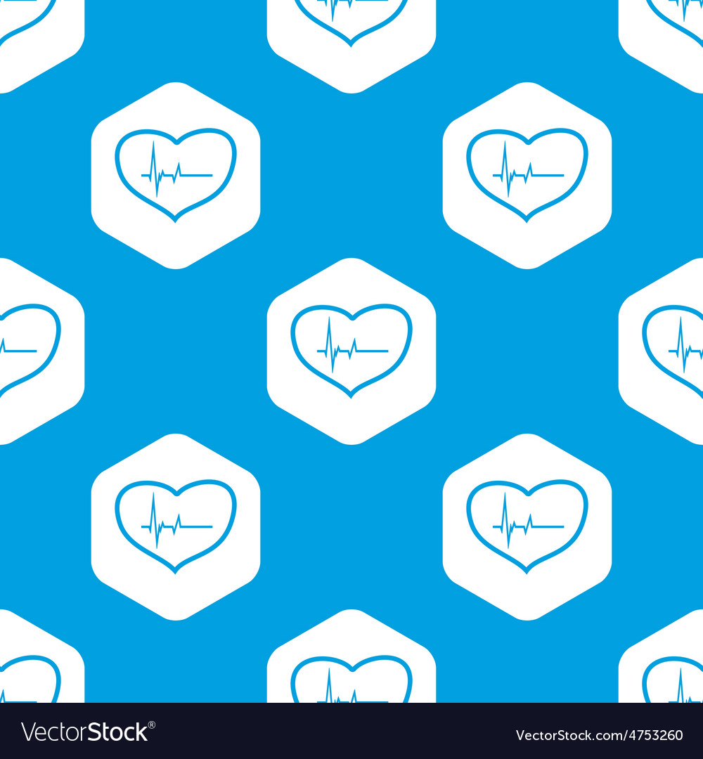 Cardiology hexagon pattern vector | Price: 1 Credit (USD $1)