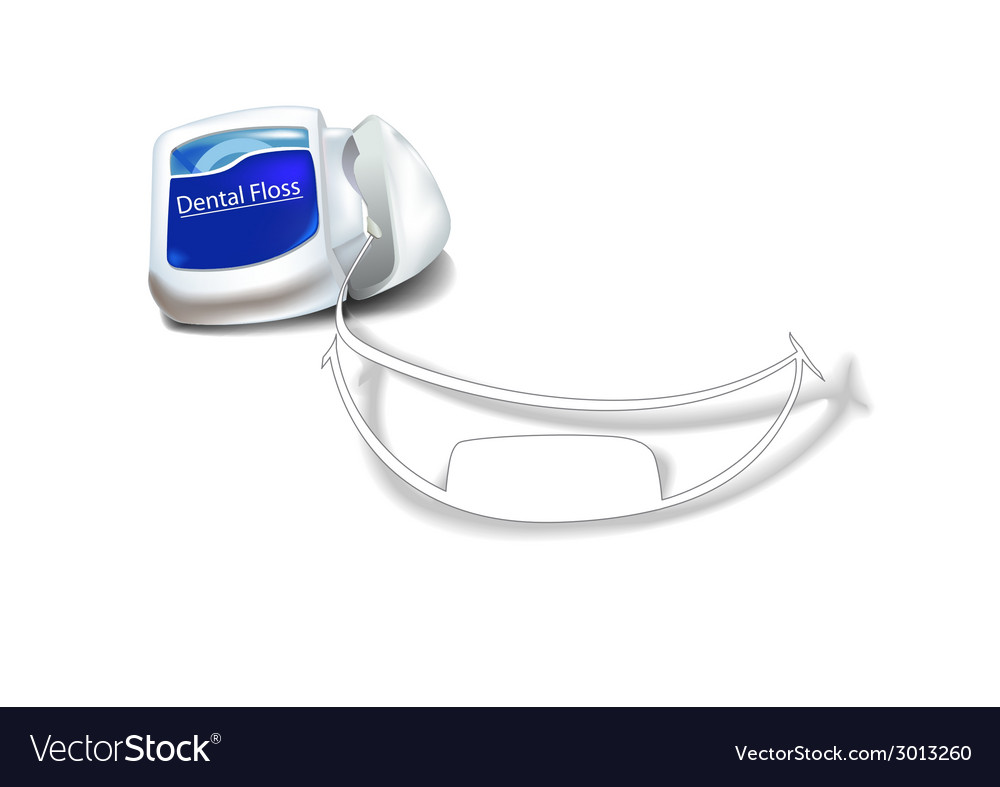 Dentalfloss smile vector | Price: 1 Credit (USD $1)