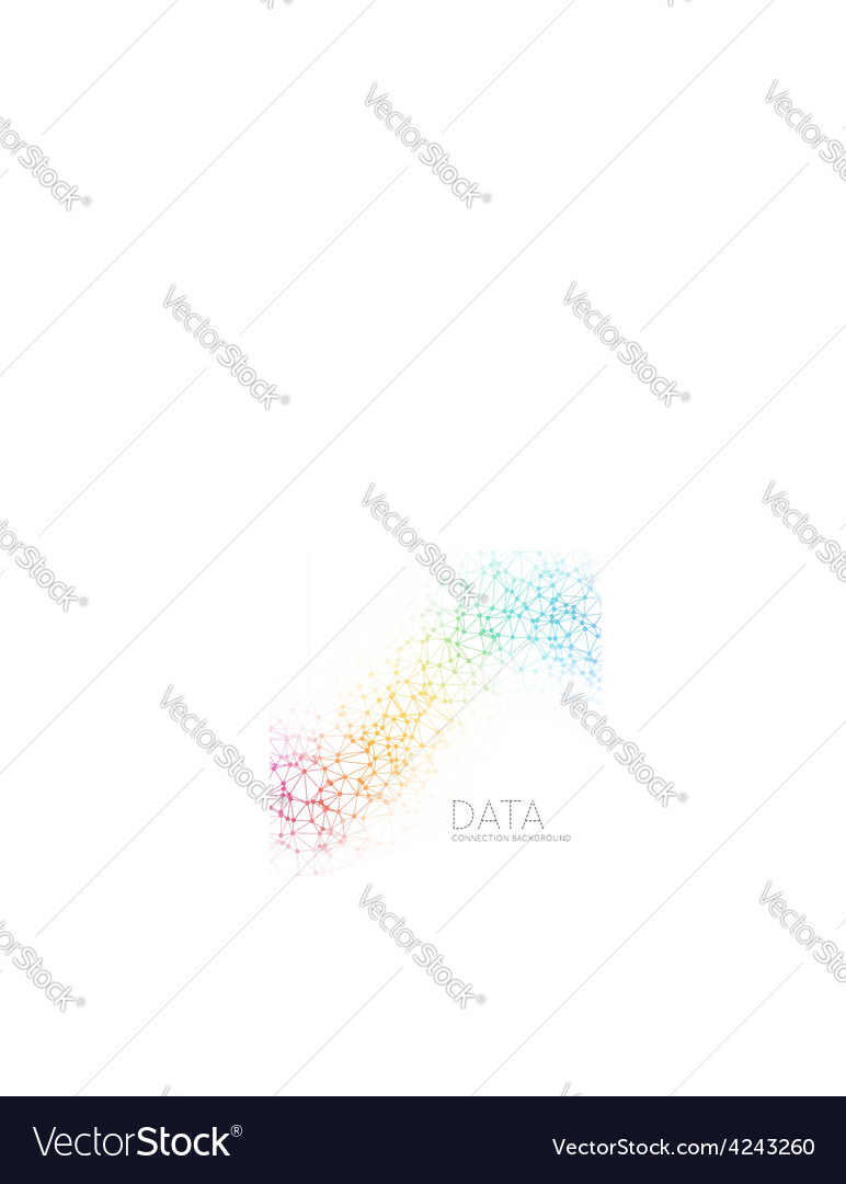 Dots with connections triangles light background vector | Price: 1 Credit (USD $1)