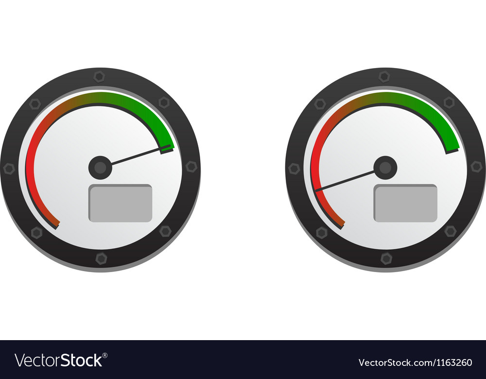 Downloads speedometer with two emblems for slow an vector | Price: 1 Credit (USD $1)