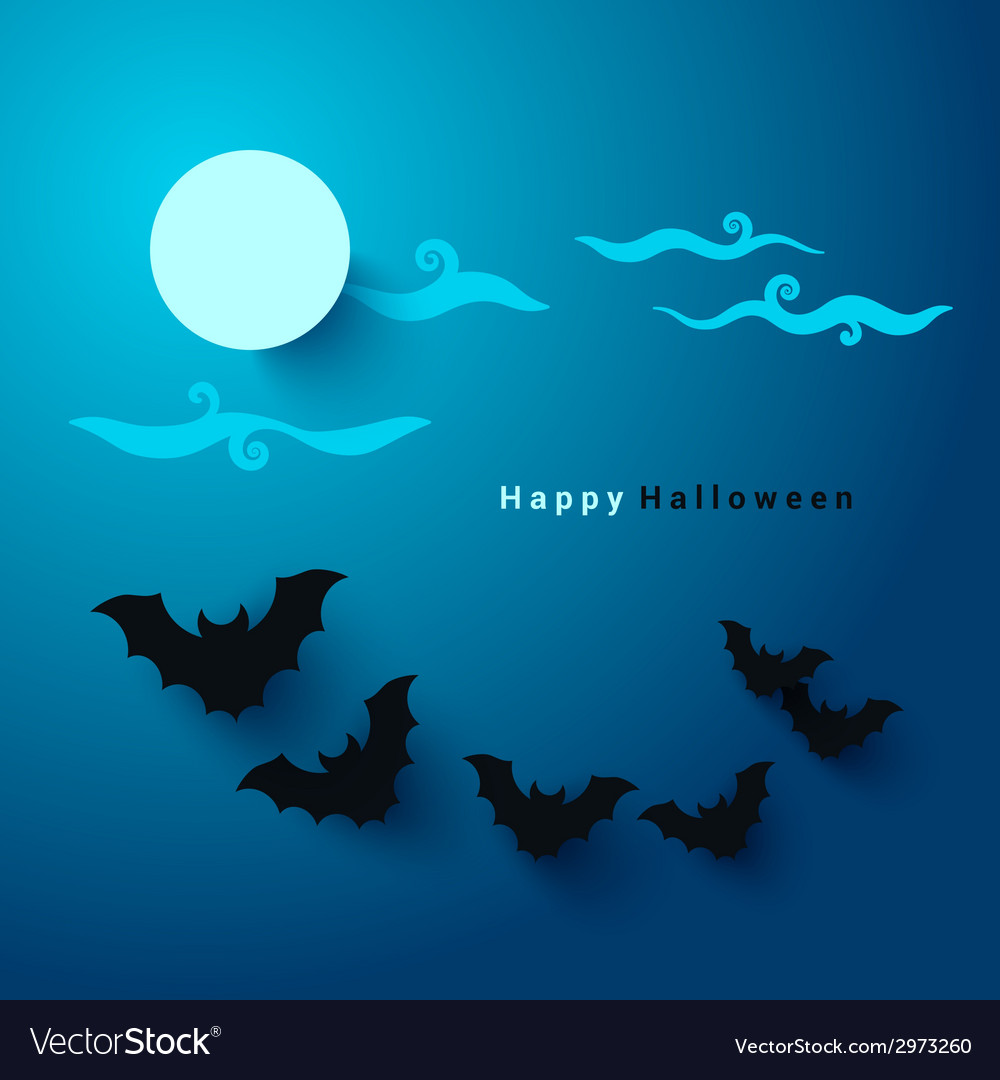 Halloween party paper cut background vector
