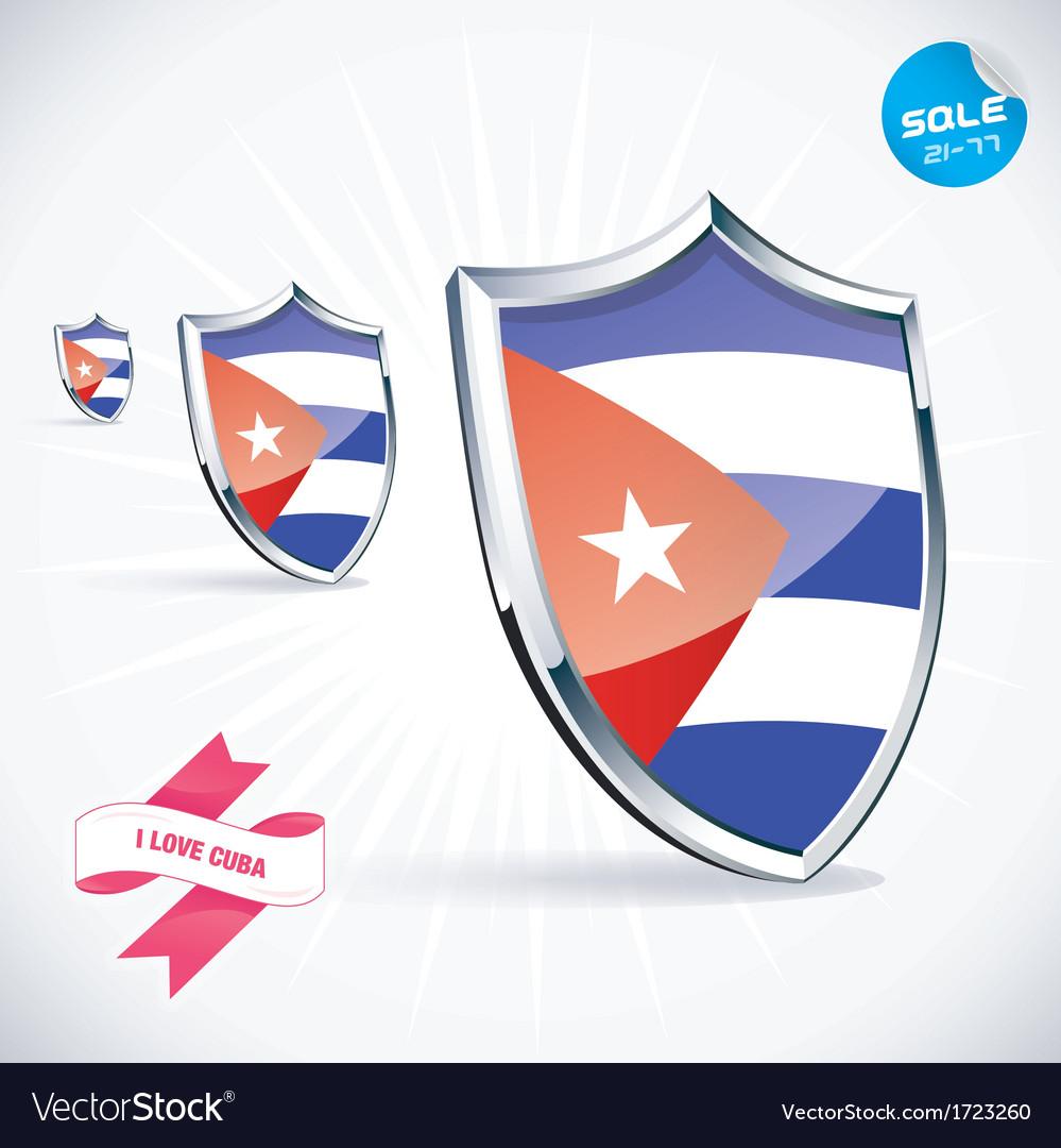 I love cuba flag vector | Price: 1 Credit (USD $1)