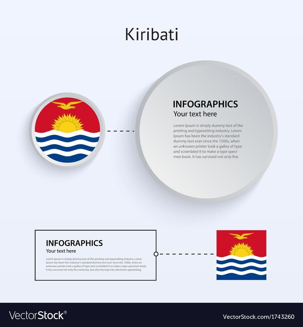 Kiribati country set of banners vector | Price: 1 Credit (USD $1)