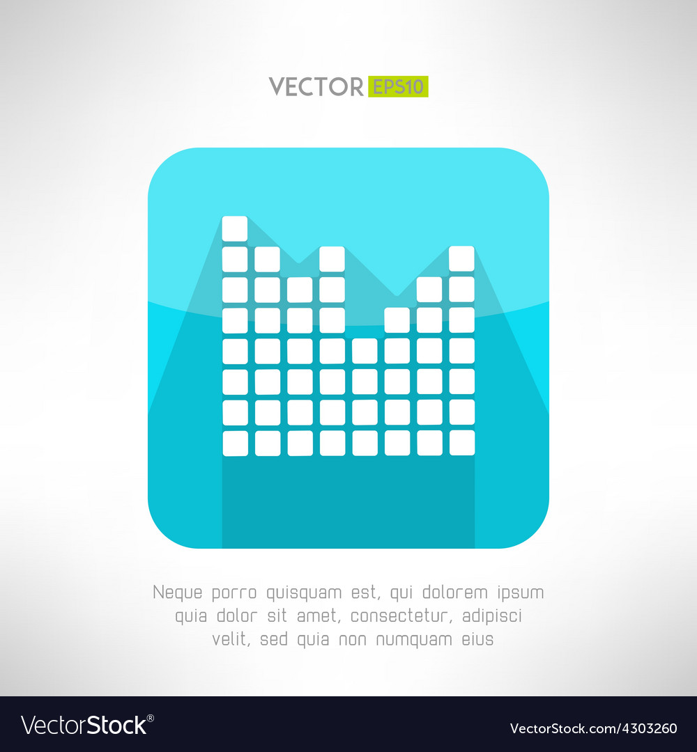 Musical equalizer icon in modern flat design vector | Price: 1 Credit (USD $1)