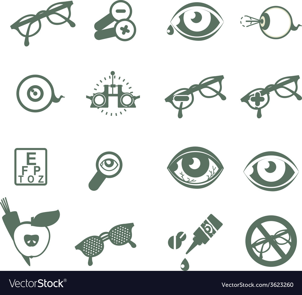 Ophthalmic icons vector | Price: 1 Credit (USD $1)