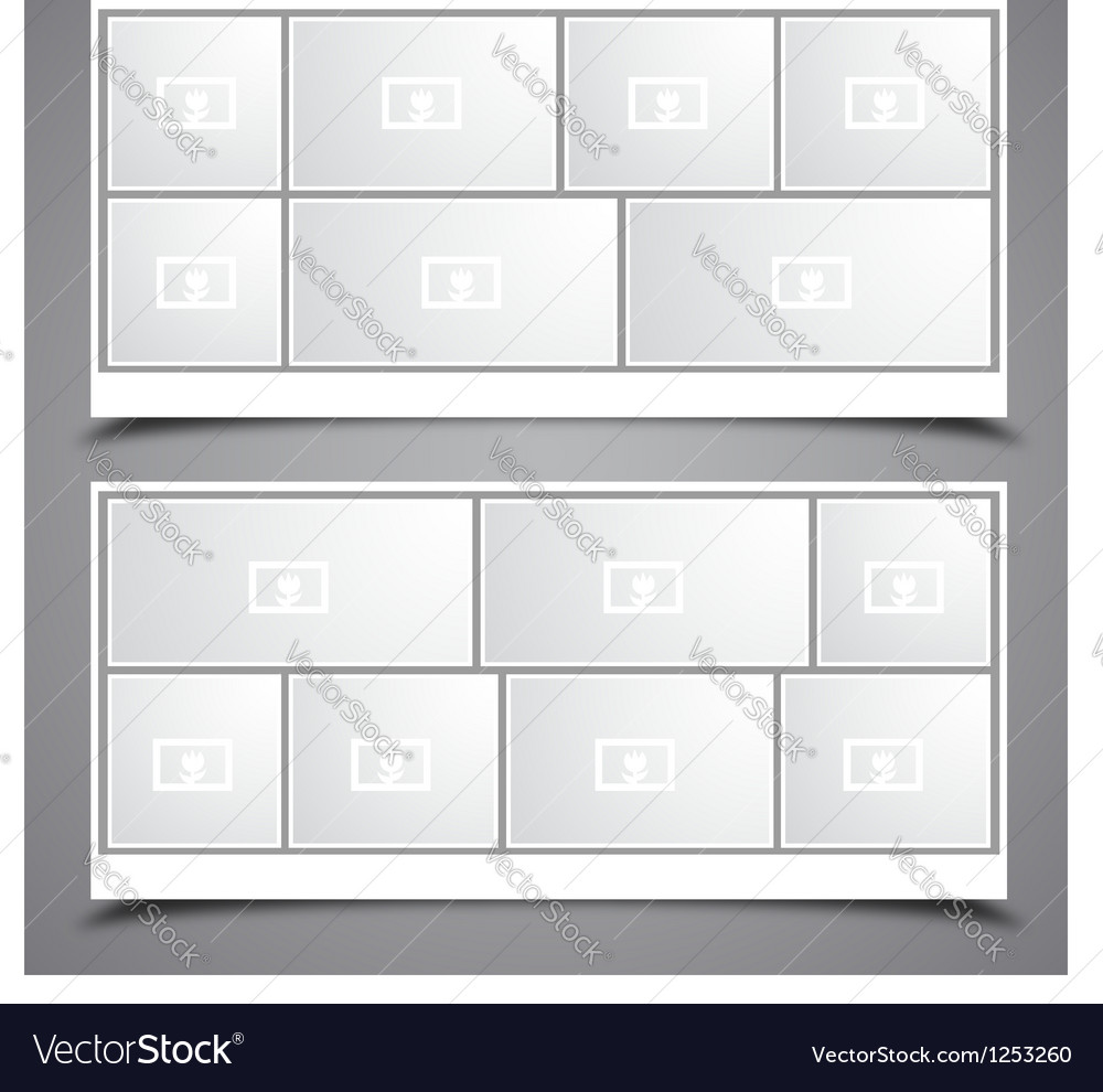 Photo collage frames vector | Price: 1 Credit (USD $1)