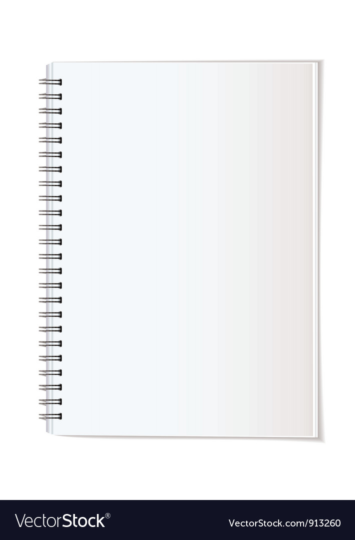 Portrait note pad vector | Price: 1 Credit (USD $1)