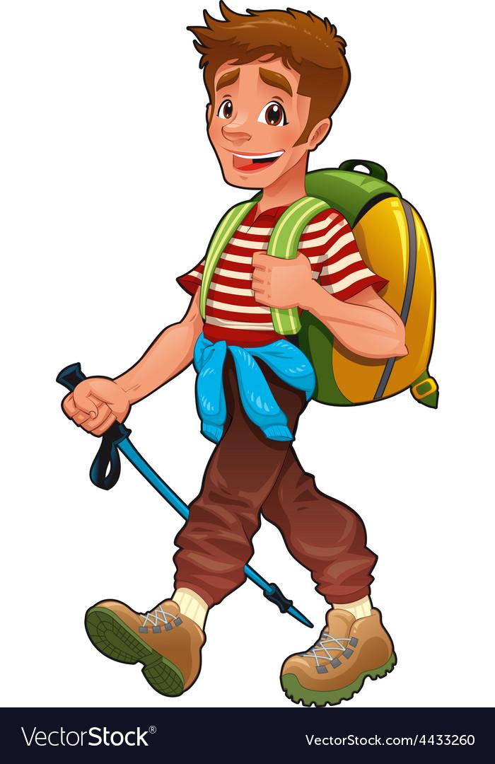 Trekking boy vector | Price: 1 Credit (USD $1)