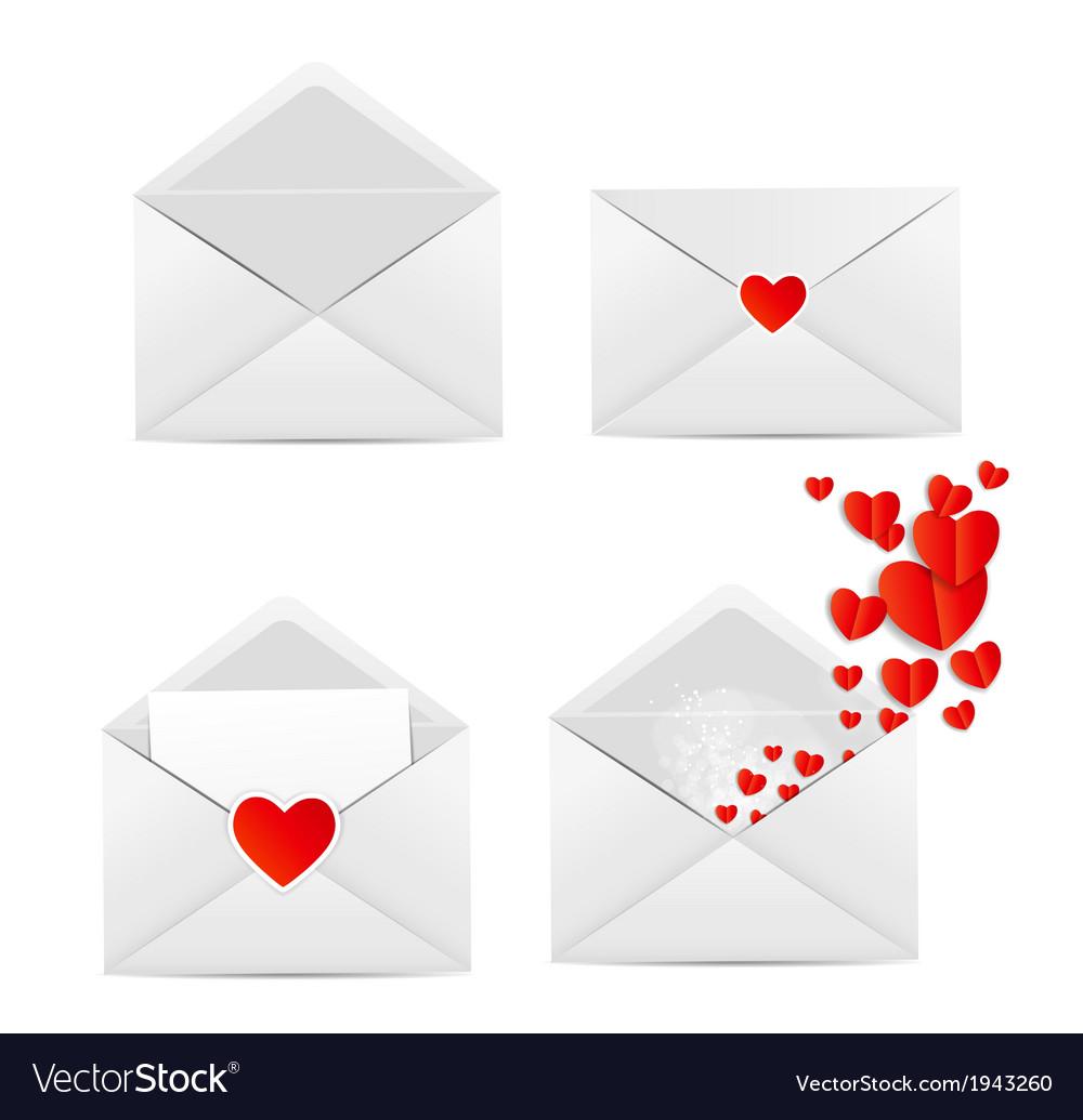 White envelope icon vector | Price: 1 Credit (USD $1)
