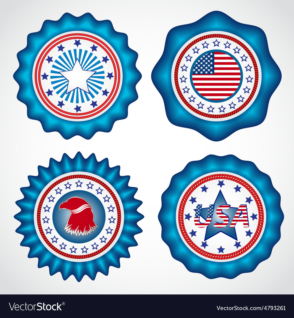 American independence day holiday badges vector | Price: 1 Credit (USD $1)