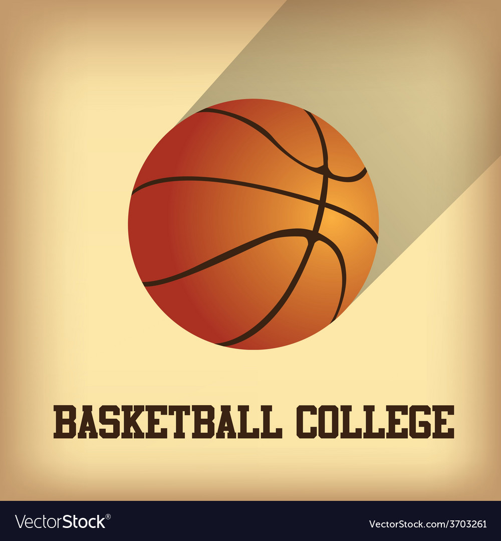 An isolated basketball ball and text on a colored vector   Price: 1 Credit (USD $1)