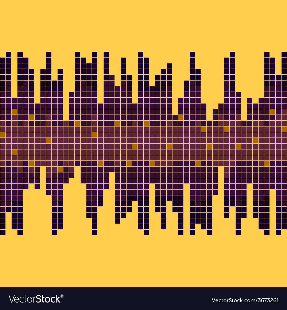 Background with equalizer yellow and violet bright vector | Price: 1 Credit (USD $1)