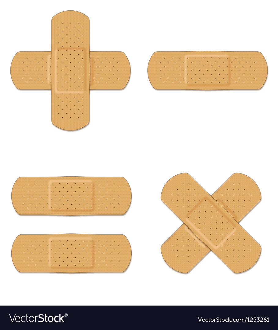 Band aids vector | Price: 1 Credit (USD $1)