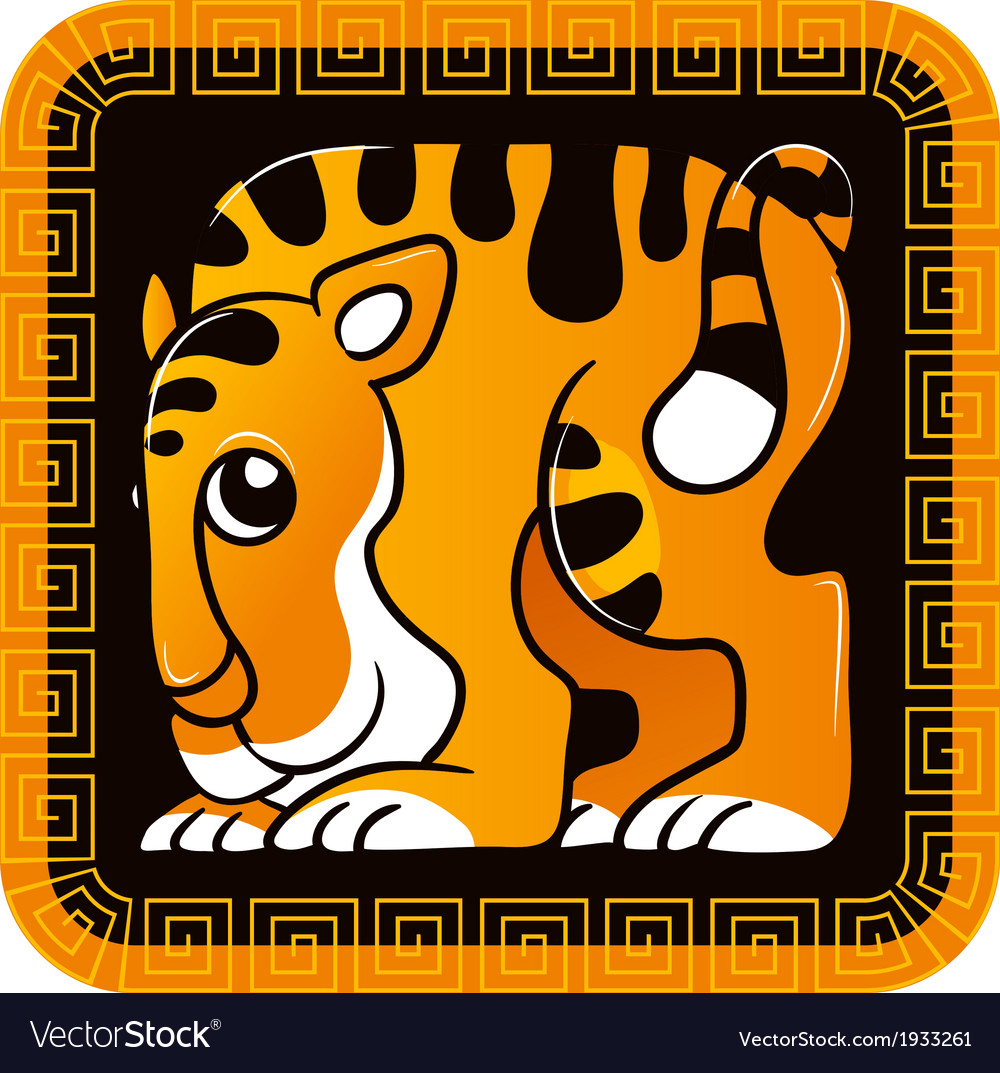 Chinese horoscope year of the tiger vector | Price: 1 Credit (USD $1)