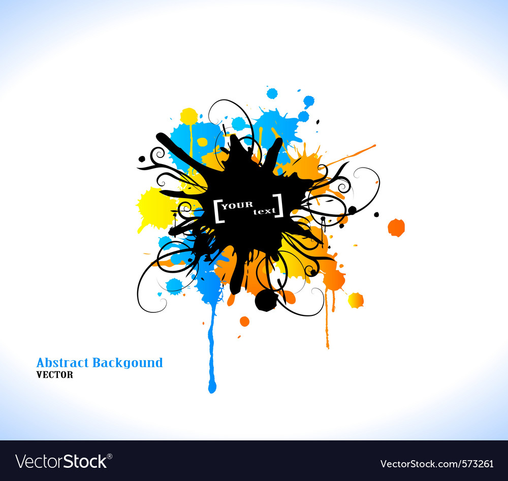 Colour grunge poster vector | Price: 1 Credit (USD $1)
