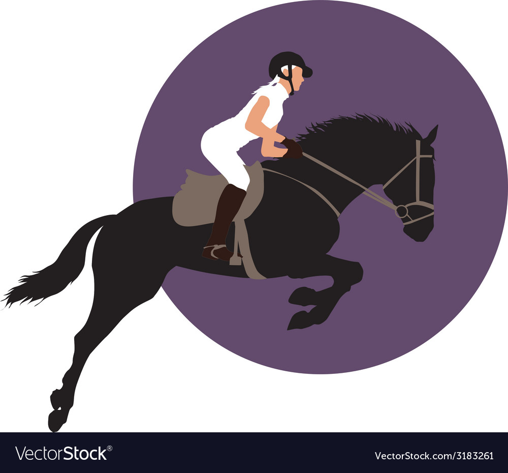 Equestrian sports design vector | Price: 1 Credit (USD $1)