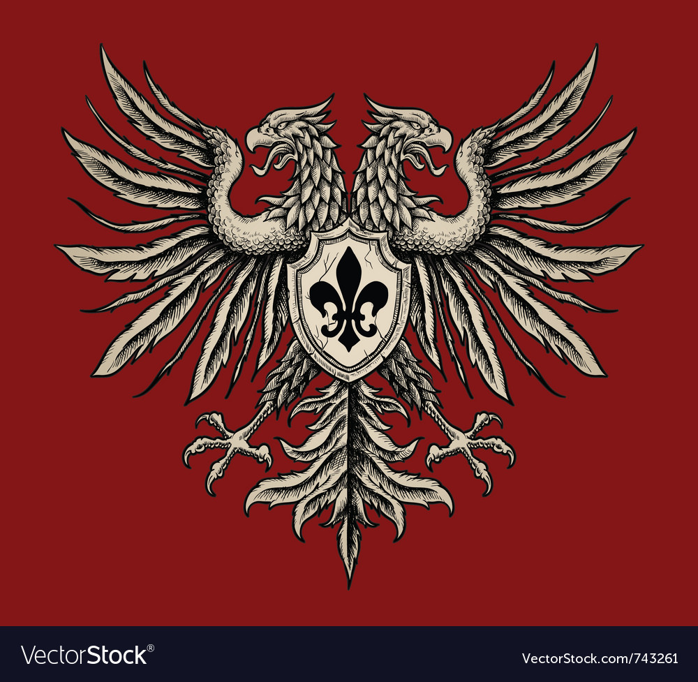 Hand drawn heraldic eagle vector | Price: 1 Credit (USD $1)