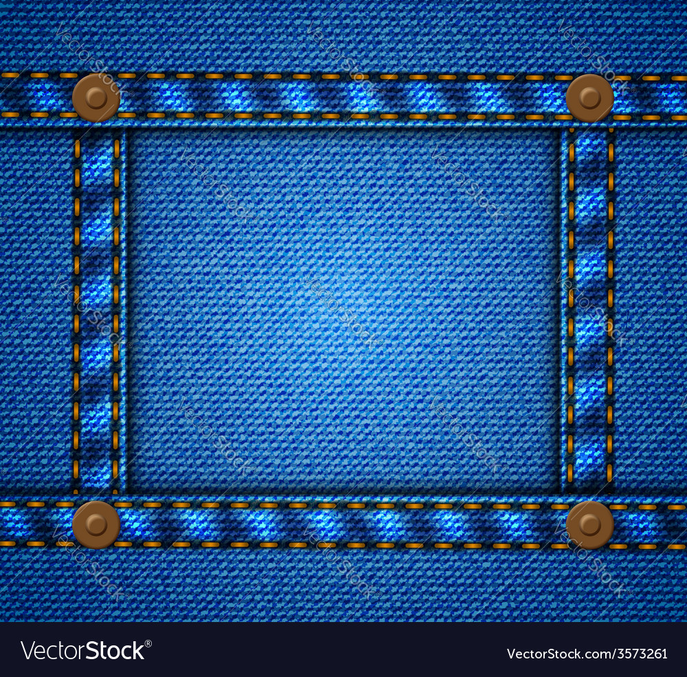 Jeans frame with buttons vector | Price: 1 Credit (USD $1)