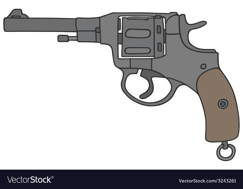 Old revolver vector | Price: 1 Credit (USD $1)