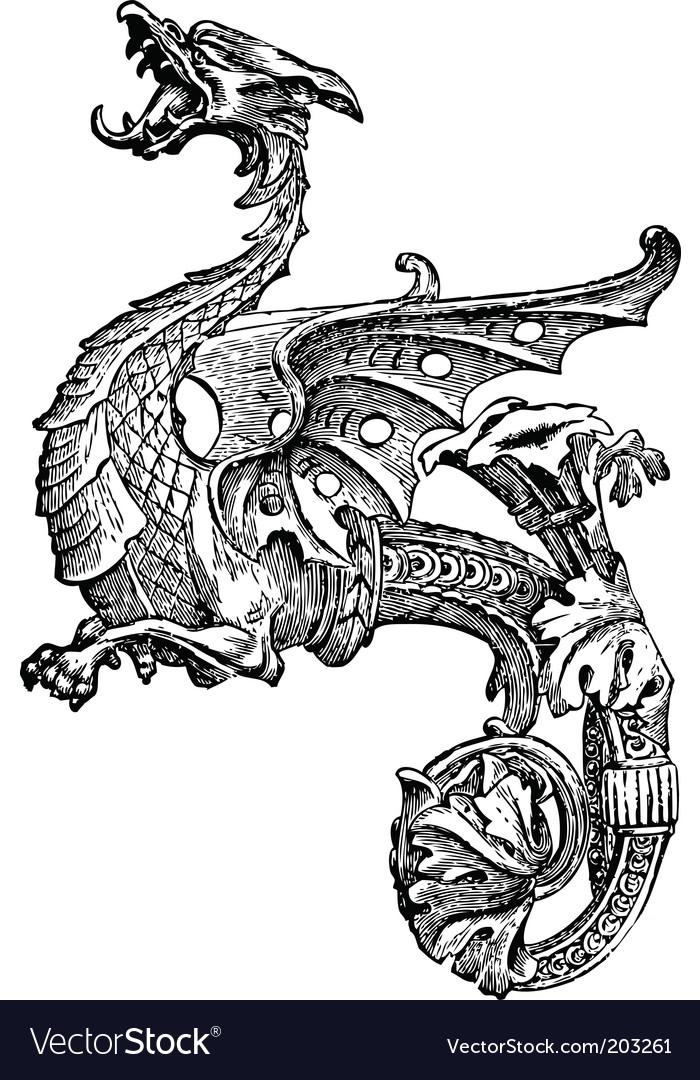 Ornate dragon vector | Price: 1 Credit (USD $1)