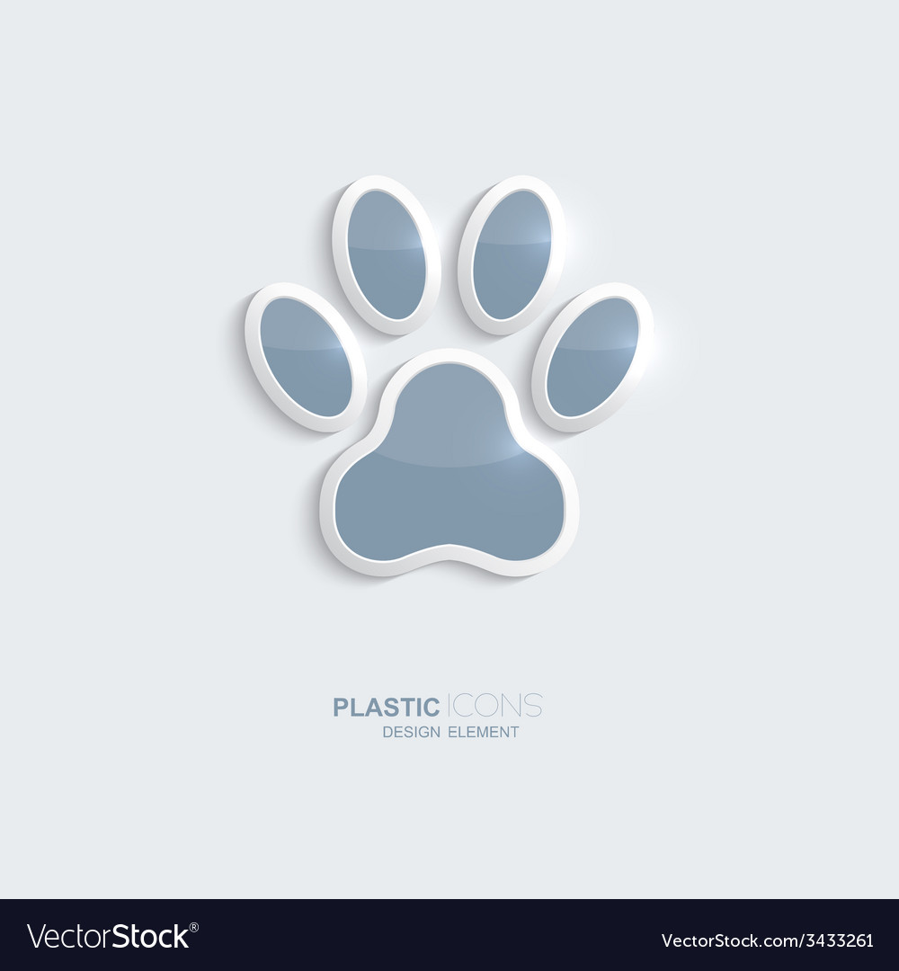 Plastic icon footprint symbol vector | Price: 1 Credit (USD $1)