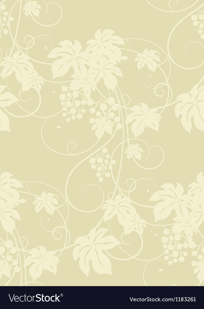 Seamless grape vines background vector