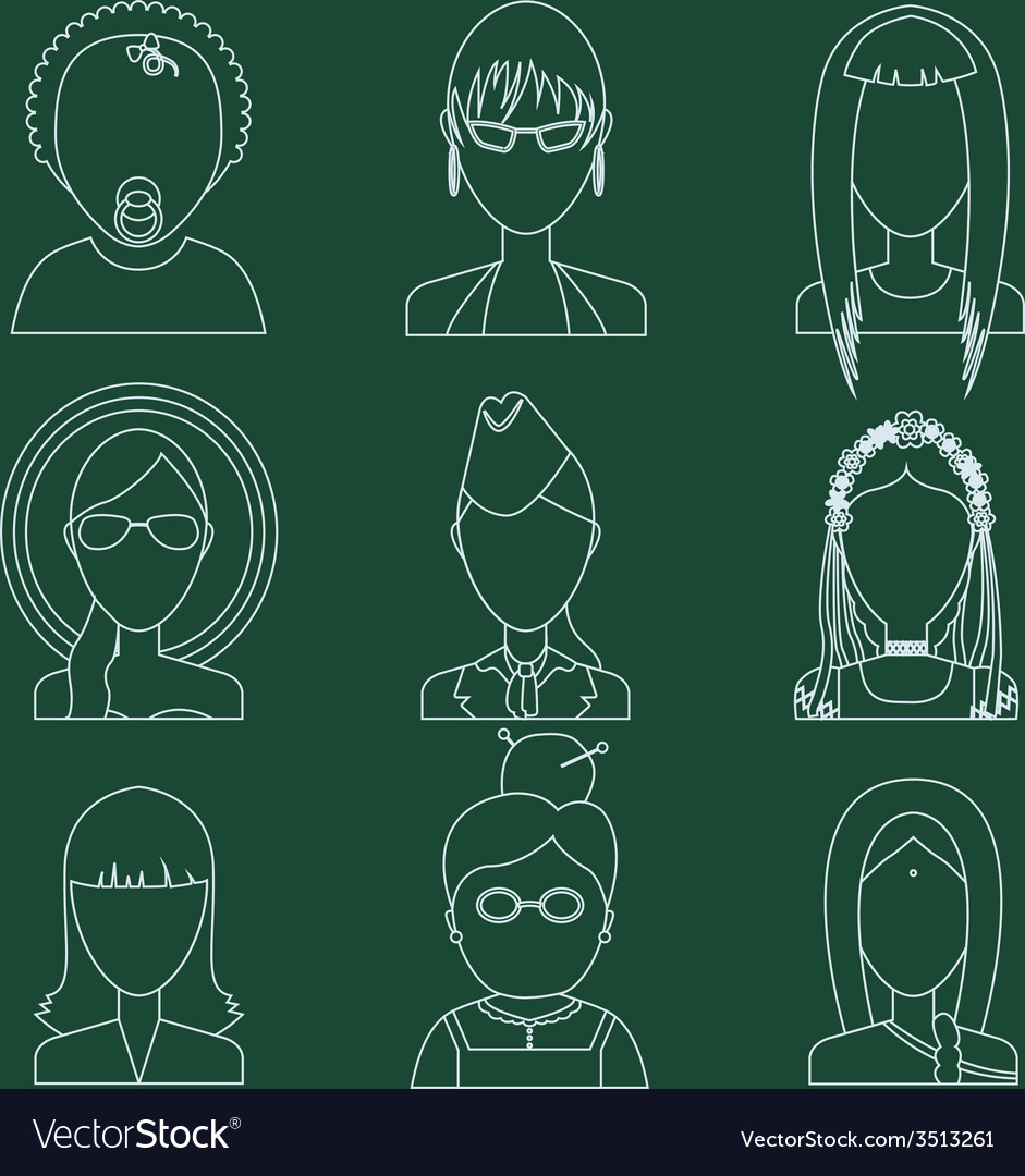Set of flat style female characters vector   Price: 1 Credit (USD $1)