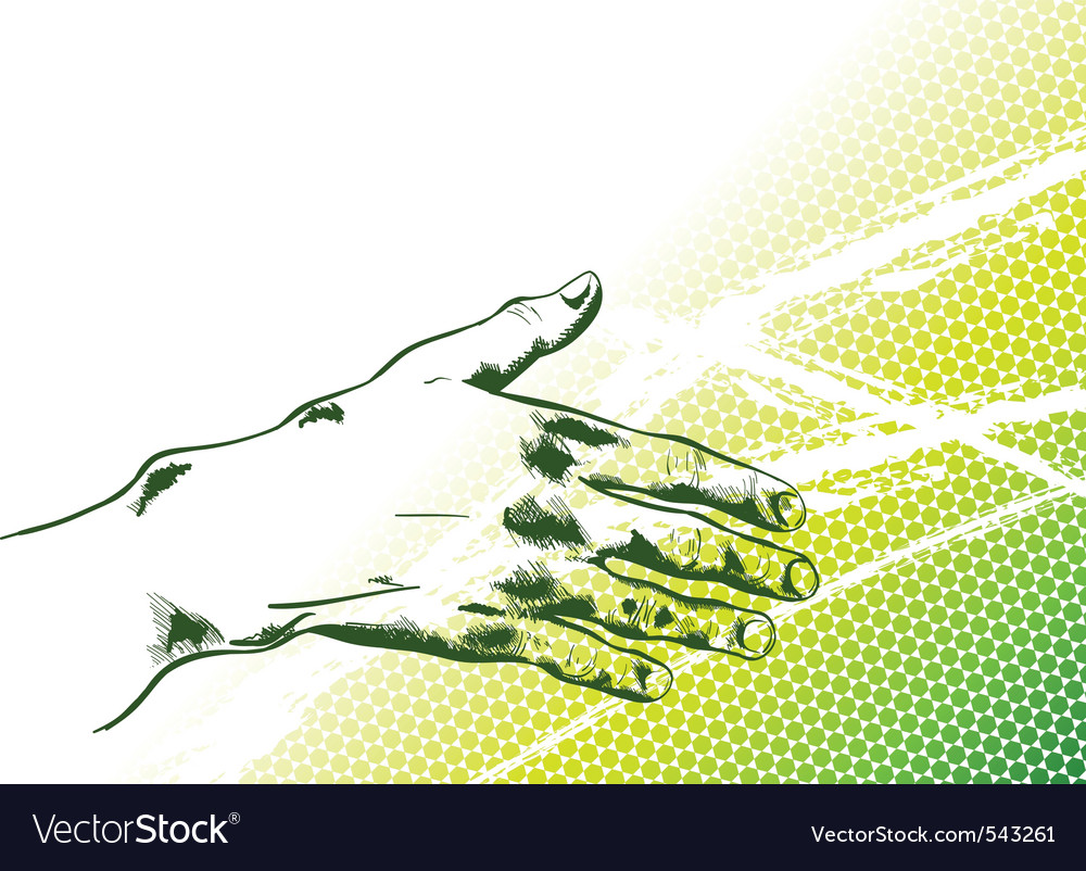 Simple hand reaching out vector | Price: 1 Credit (USD $1)