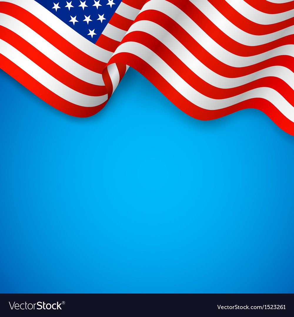 Wavy american flag vector | Price: 1 Credit (USD $1)