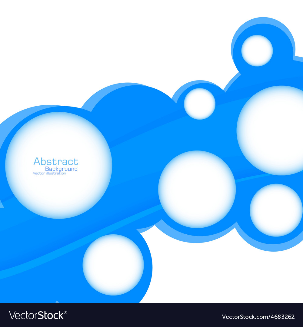 Abstract web design bubble vector