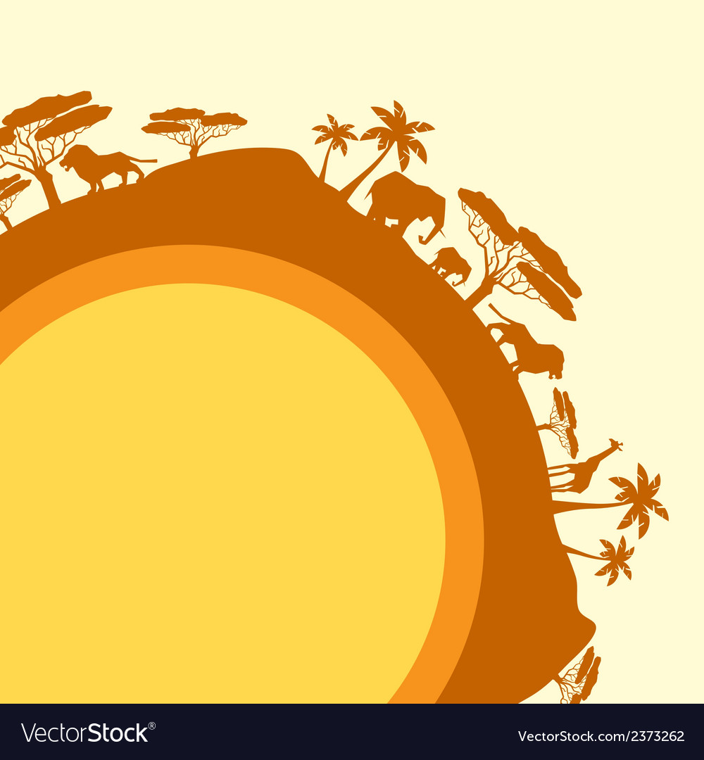 African ethnic background in design flat style vector | Price: 1 Credit (USD $1)