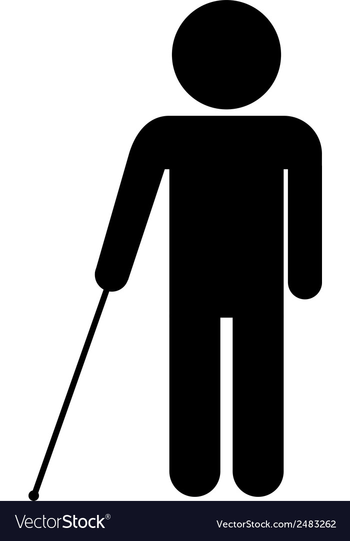 Blind disabled icon vector | Price: 1 Credit (USD $1)