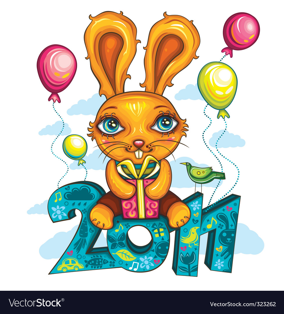 Cartoon bunny vector | Price: 3 Credit (USD $3)