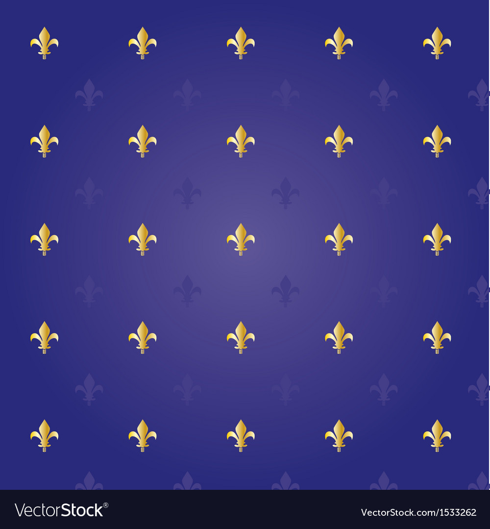 Fleur de lis seamless pattern vector | Price: 1 Credit (USD $1)