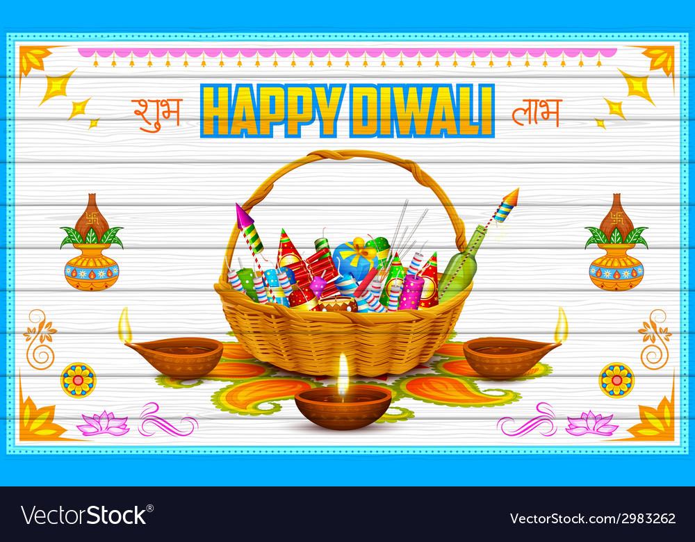 Happy diwali background vector | Price: 3 Credit (USD $3)