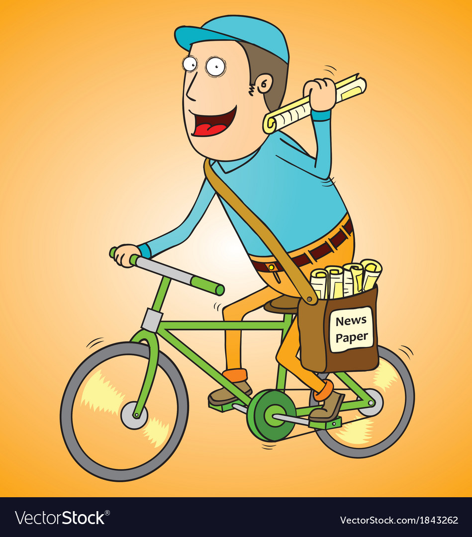 Newspaper boy vector | Price: 1 Credit (USD $1)