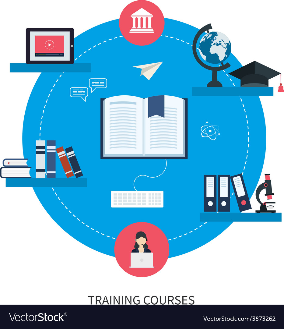Online education and courses vector | Price: 1 Credit (USD $1)