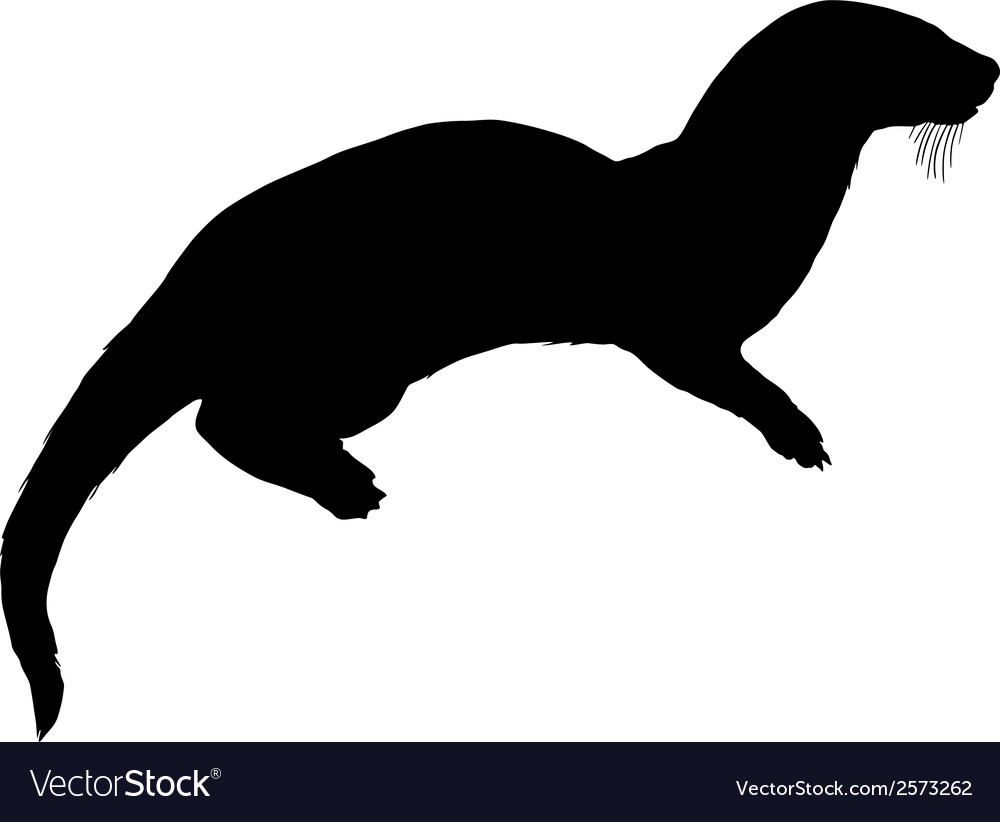 Otter silhouette vector | Price: 1 Credit (USD $1)