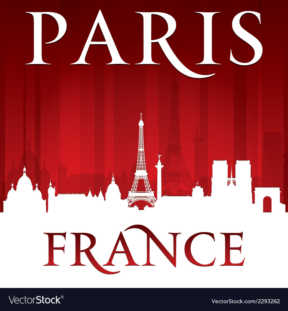 Paris france city skyline silhouette vector | Price: 1 Credit (USD $1)