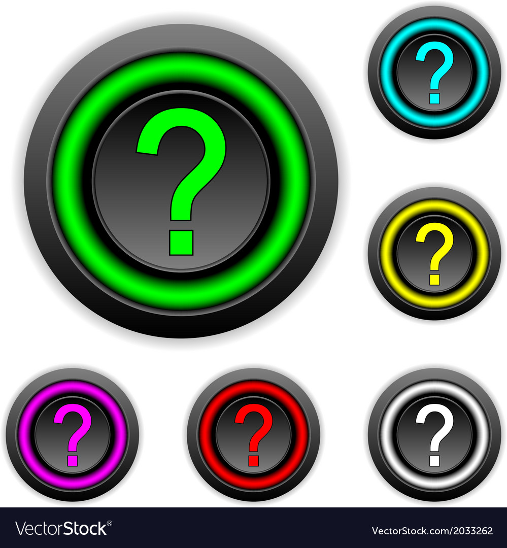 Question buttons set vector   Price: 1 Credit (USD $1)
