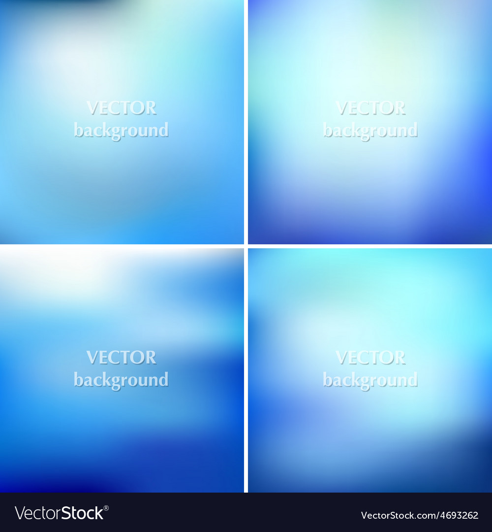 Set of abstract colorful blurred aqua water vector | Price: 1 Credit (USD $1)