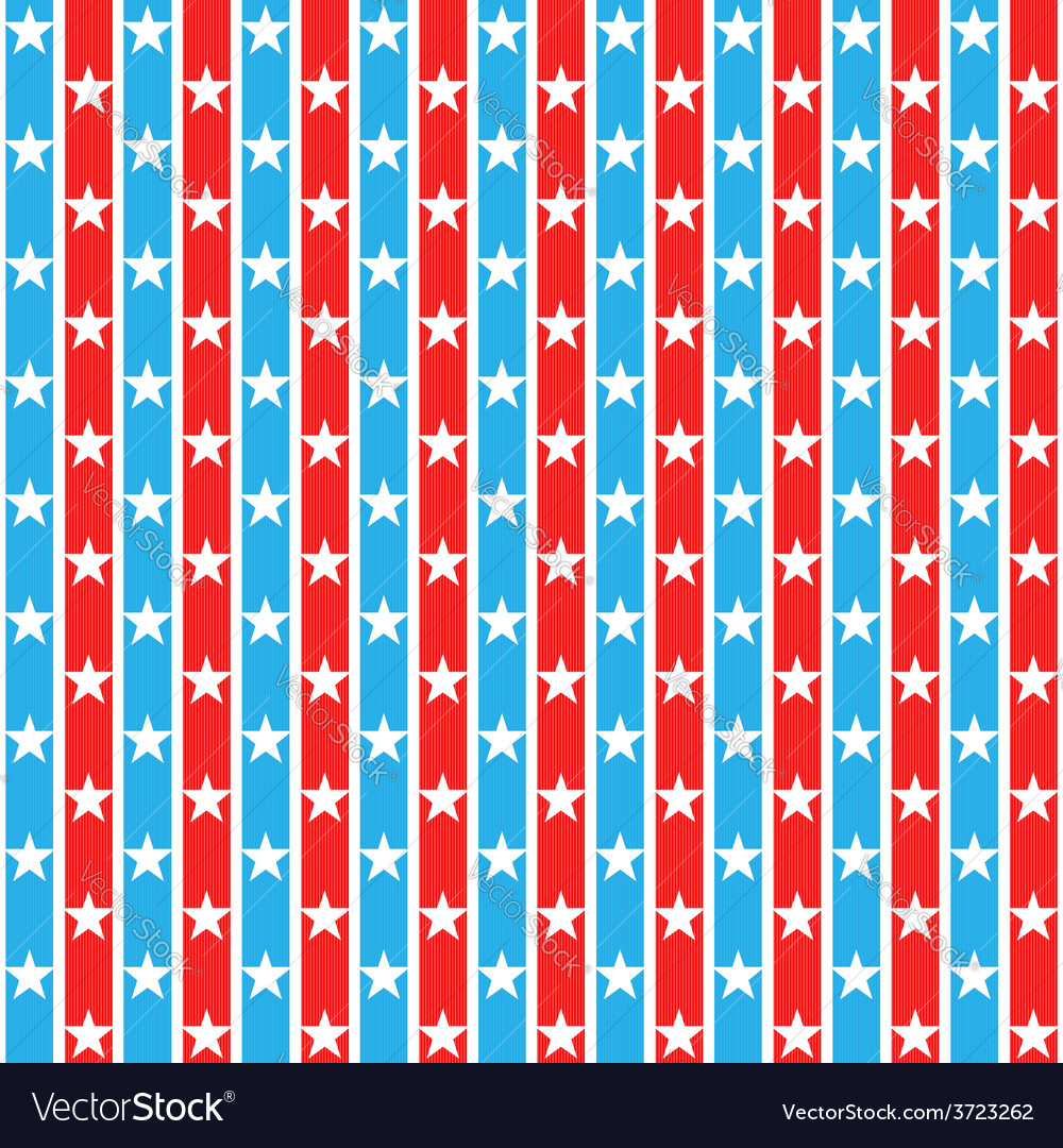 Stars striped seamless pattern vector | Price: 1 Credit (USD $1)