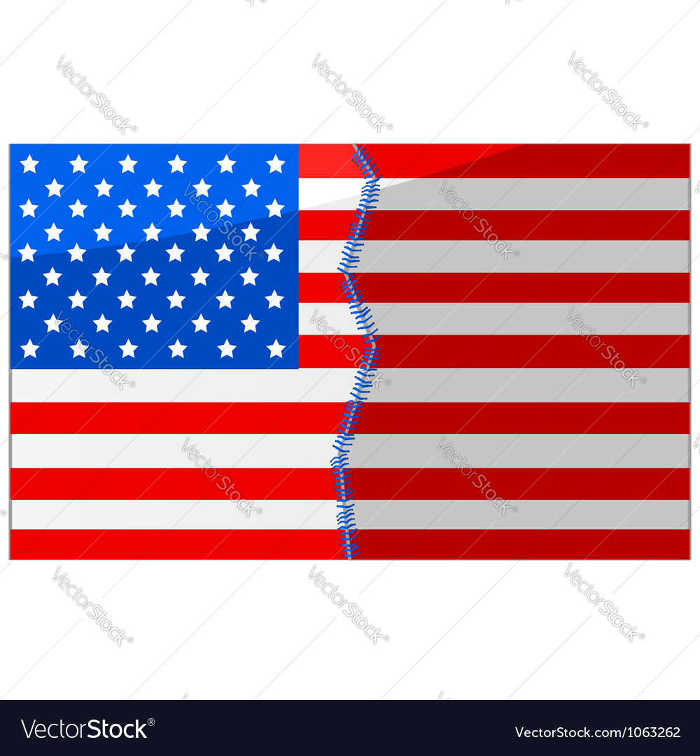 Usa divided and stitched vector | Price: 1 Credit (USD $1)