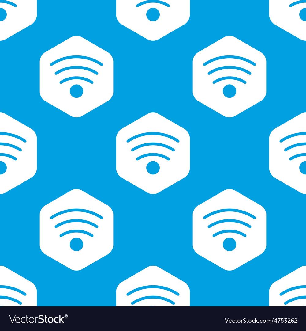 Wi-fi hexagon pattern vector   Price: 1 Credit (USD $1)