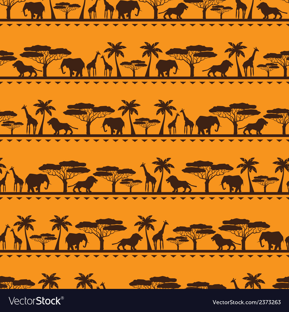 African ethnic seamless pattern vector | Price: 1 Credit (USD $1)