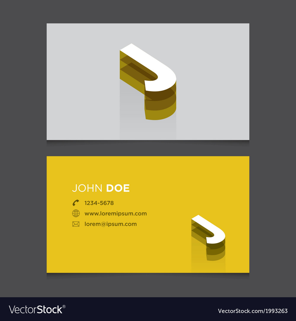 Business card letter j vector | Price: 1 Credit (USD $1)